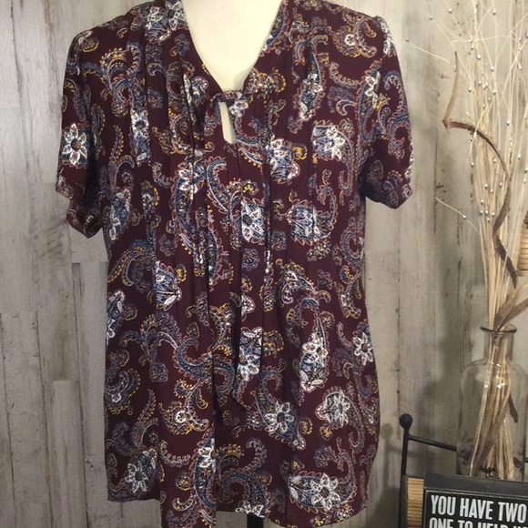 Lands End ladies paisley blouse.